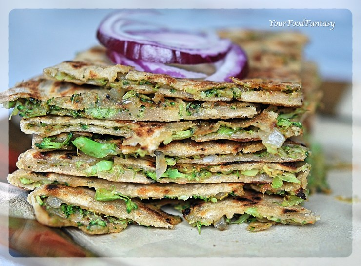 Broccoli Paratha | Broccoli Recipes | Your Food Fantasy by Meenu Gupta