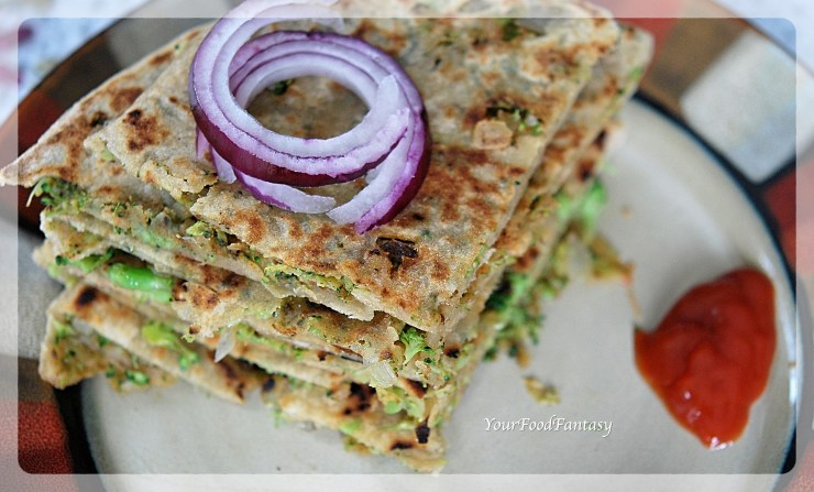Broccoli Paratha | Broccoli Recipes | YourFoodFantasy.com