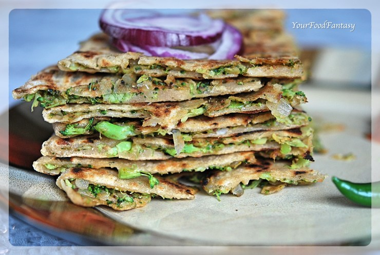 Broccoli Paratha Recipe | YourFoodFantasy.com