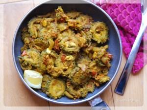 Karela Masala Sabzi step by step recipe   YourFoodFantasy.com