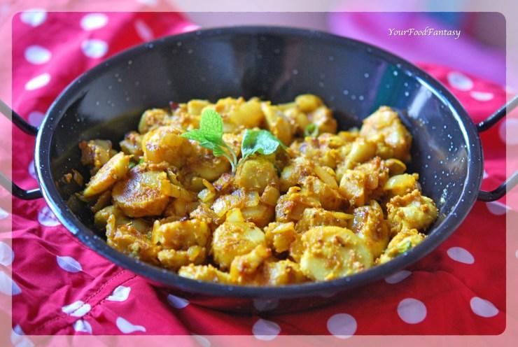 Masala Arbi Recipe | Your Food Fantasy