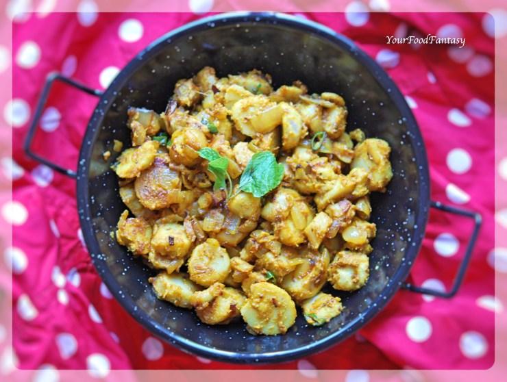 Masala Arbi Recipe   YourFoodFantasy.com by Meenu Gupta