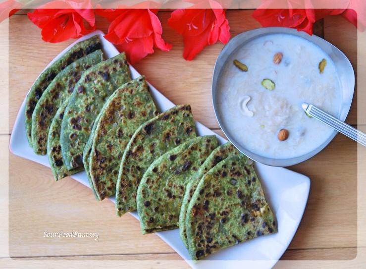 Palak Paneer Paratha - Paneer Recipes | Your Food Fantasy