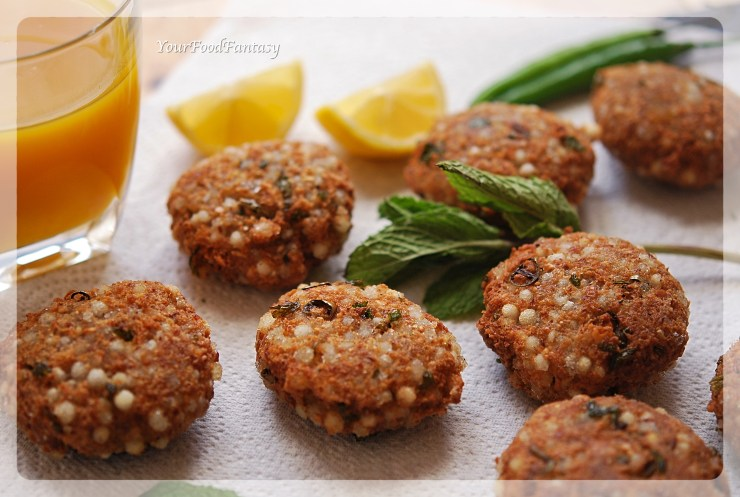 Sabudana Vada Recipe | YourFoodFantasy.com by Meenu Gupta