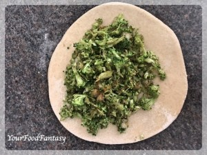 Stuffing Broccoli for Broccoli Paratha | Your Food Fantasy