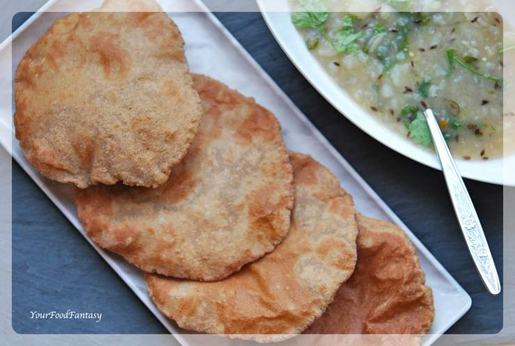 Kuttu Ki Poori Recipe | Buckwheat Flour Puri | Your Food Fantasy