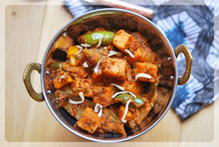 Restaurant Style Kadai Paneer | Paneer Recipes | Your Food Fantasy
