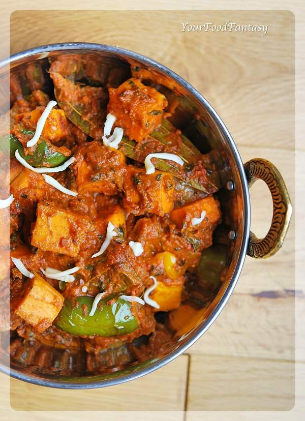 Restaurant Style Kadai Paneer Recipe | Your Food Fantasy