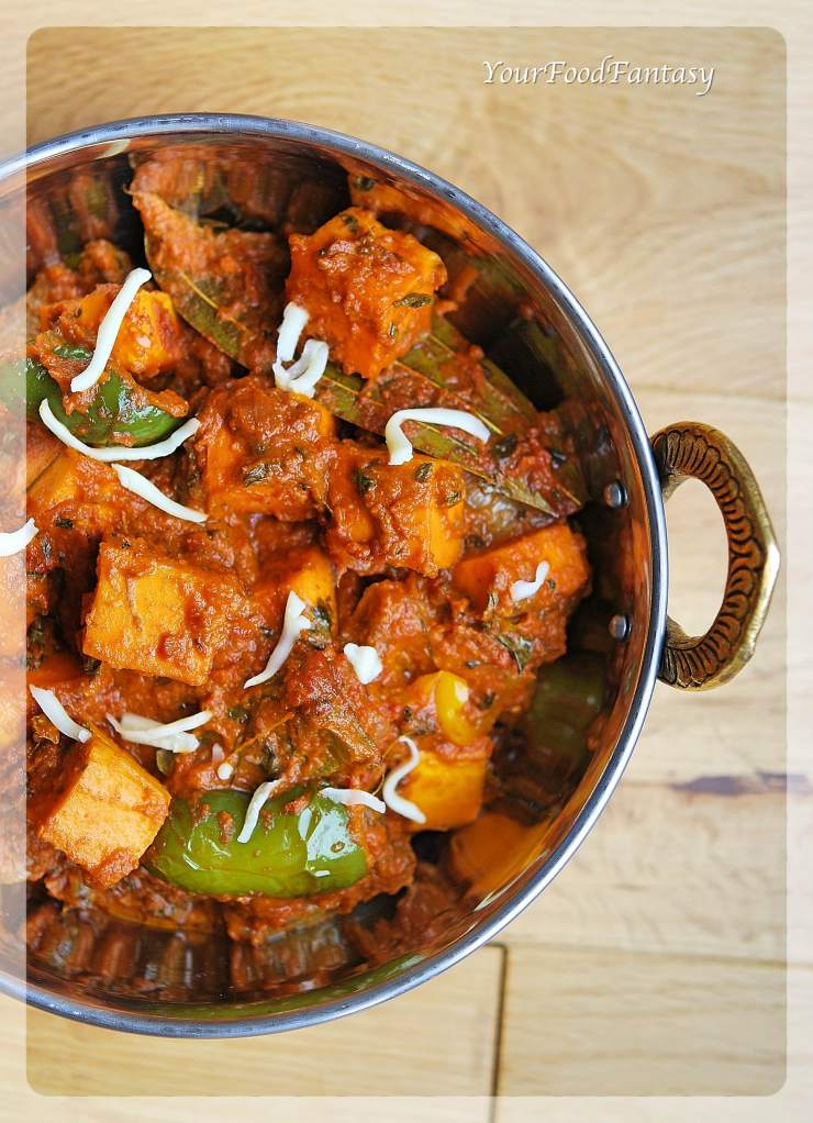 Restaurant Style Kadai Paneer Recipe   Your Food Fantasy