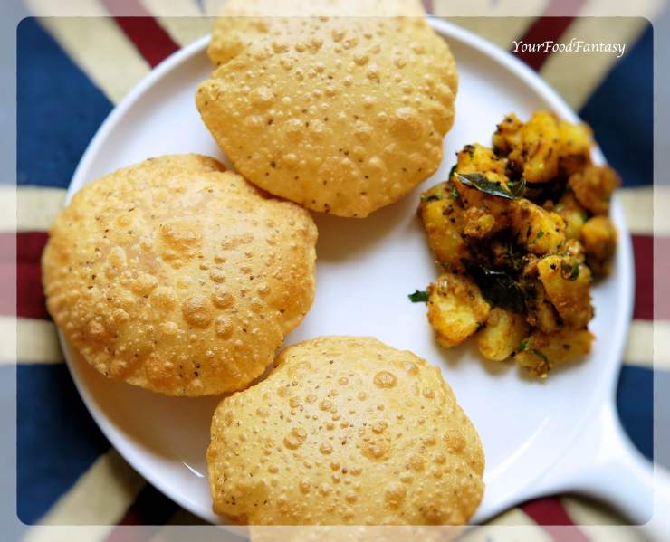 Ajwain Ke Poori   Ajwain Puri   Your Food Fantasy