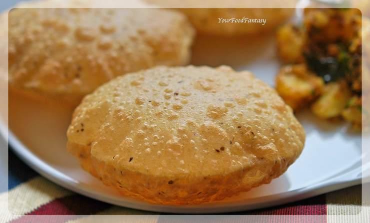 Ajwain Ke Poori   Puffed Puri Recipe   Your Food Fantasy