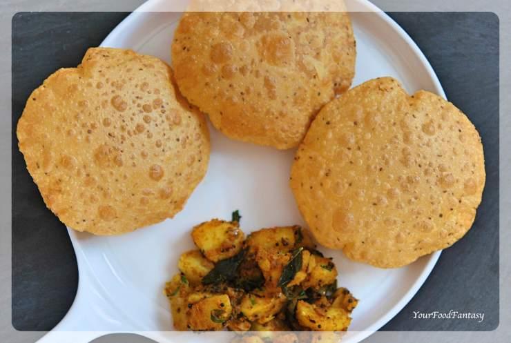 How to make perfect puffed poori | Ajwain Puri | Your Food Fantasy