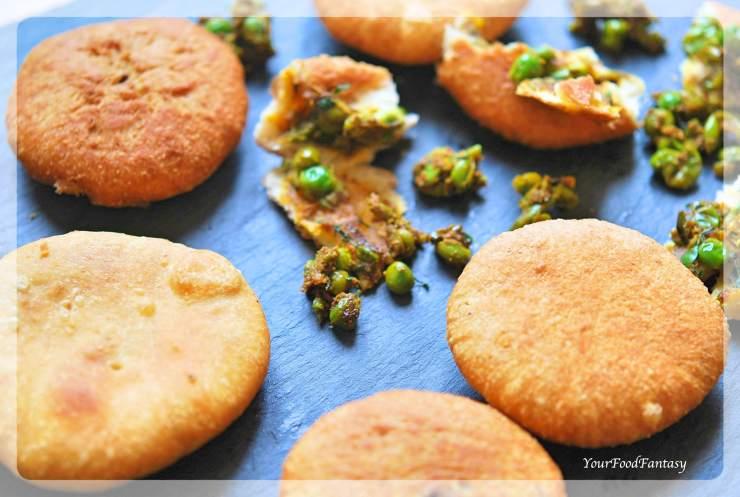 Matar Ke Kachori Recipe   Green Pea Stuffed Fried Pastry   Your Food Fantasy
