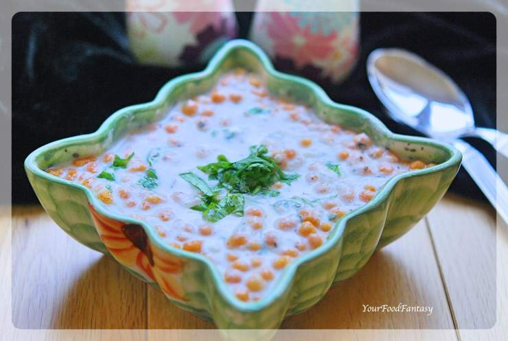 Boondi Raita - Quick & Easy Yoghurt Dip Recipe | YourFoodFantasy.com