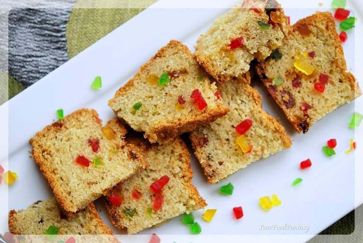 Easy Tutti Frutti Cake Recipe