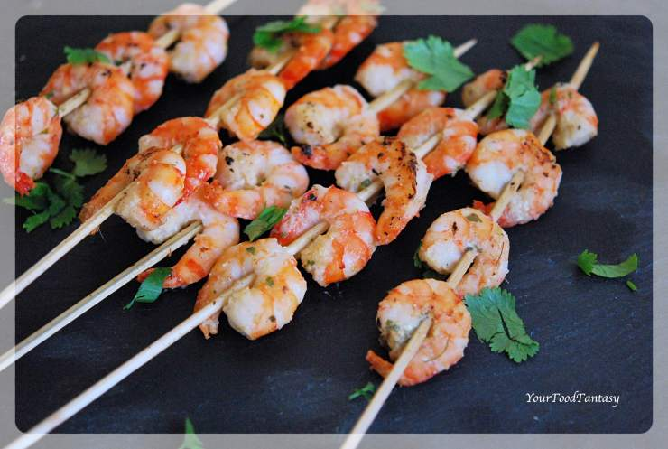 Garlic Chilli Prawn Skewers Recipe | Your Food Fantasy
