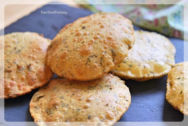 Methi Puri Recipe - Puri with Fenugreek Leaves   Your Food Fantasy