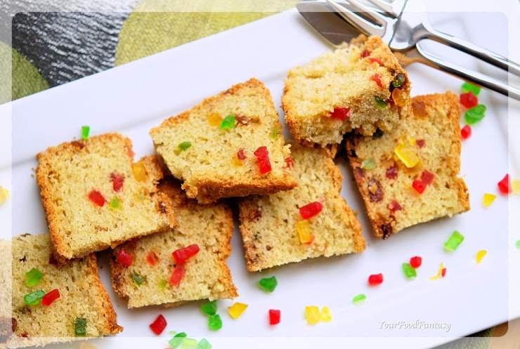 Tutti Frutti Cake Recipe | Your Food Fantasy