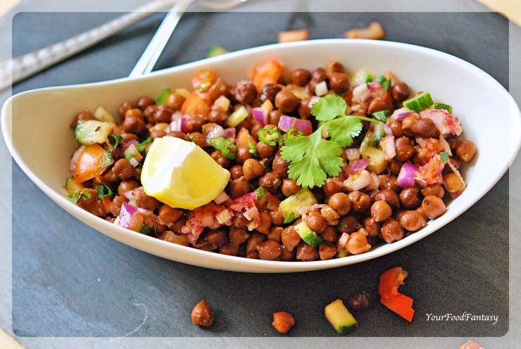 Black Chana Chaat | Black Chickpea Chaat | YourFoodFantasy.com