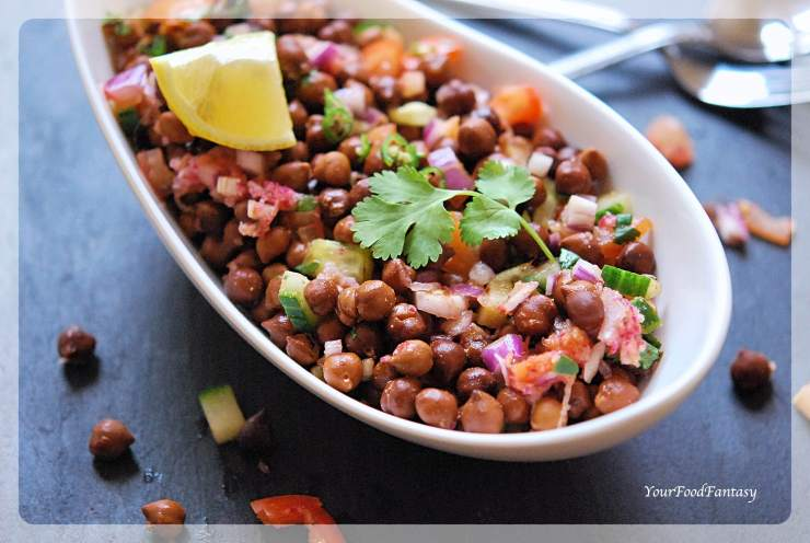 Black Chana Chaat - Chickpea Chaat | YourFoodFantasy.com
