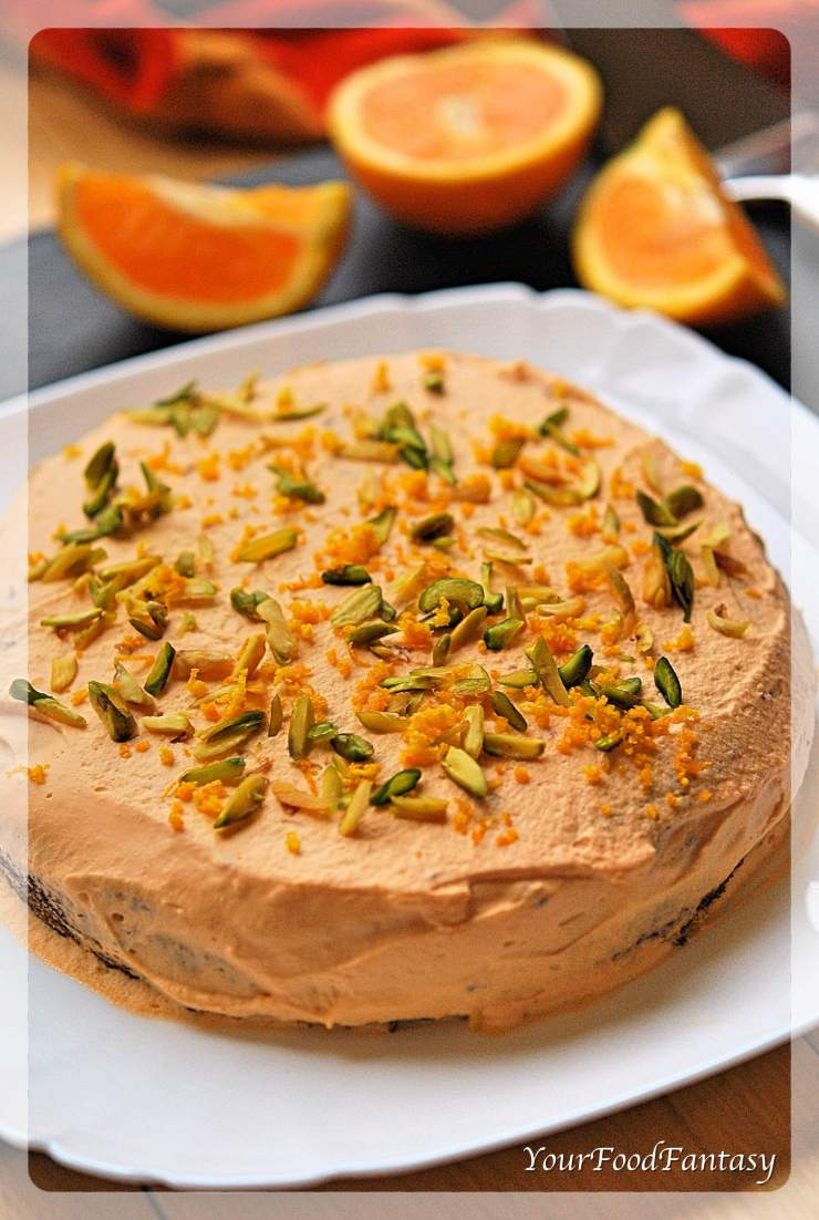 Orange Pistachio Cake Recipe | Your Food Fantasy