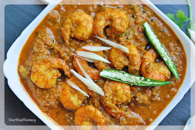 Ginger Garlic Prawns Recipe   Your Food Fantasy by Meenu Gupta