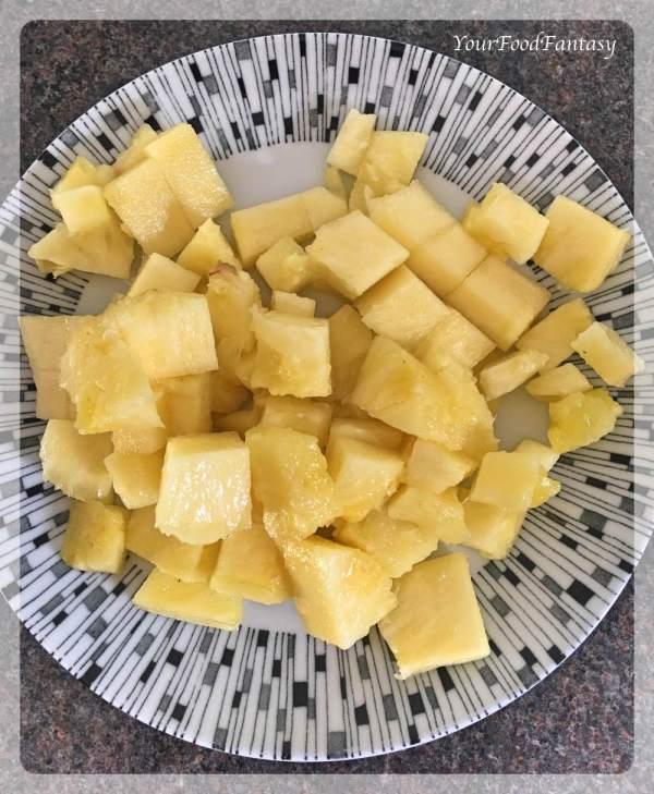 Pineapple Chunks for Pineapple Raita | Raita Recipes | YourFoodFantasy.com