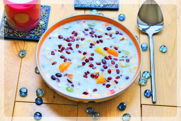 Mixed Fruit Raita Recipe | Raita Recipes | YourFoodFantasy.com