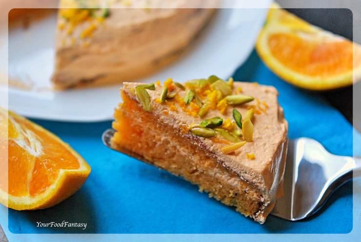 Orange Pistachio Cake Recipe | Your Food Fantasy
