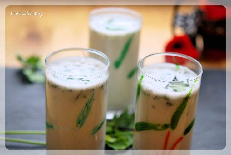 Spiced Butter Milk - Masala Chaas Recipe | Your Food Fantasy by Meenu Gupta