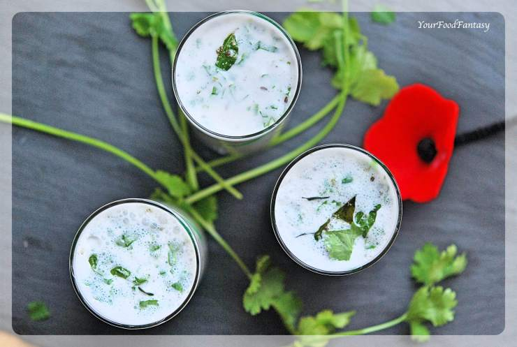 Spiced Butter Milk Recipe - Masala Chaas | YourFoodFantasy.com