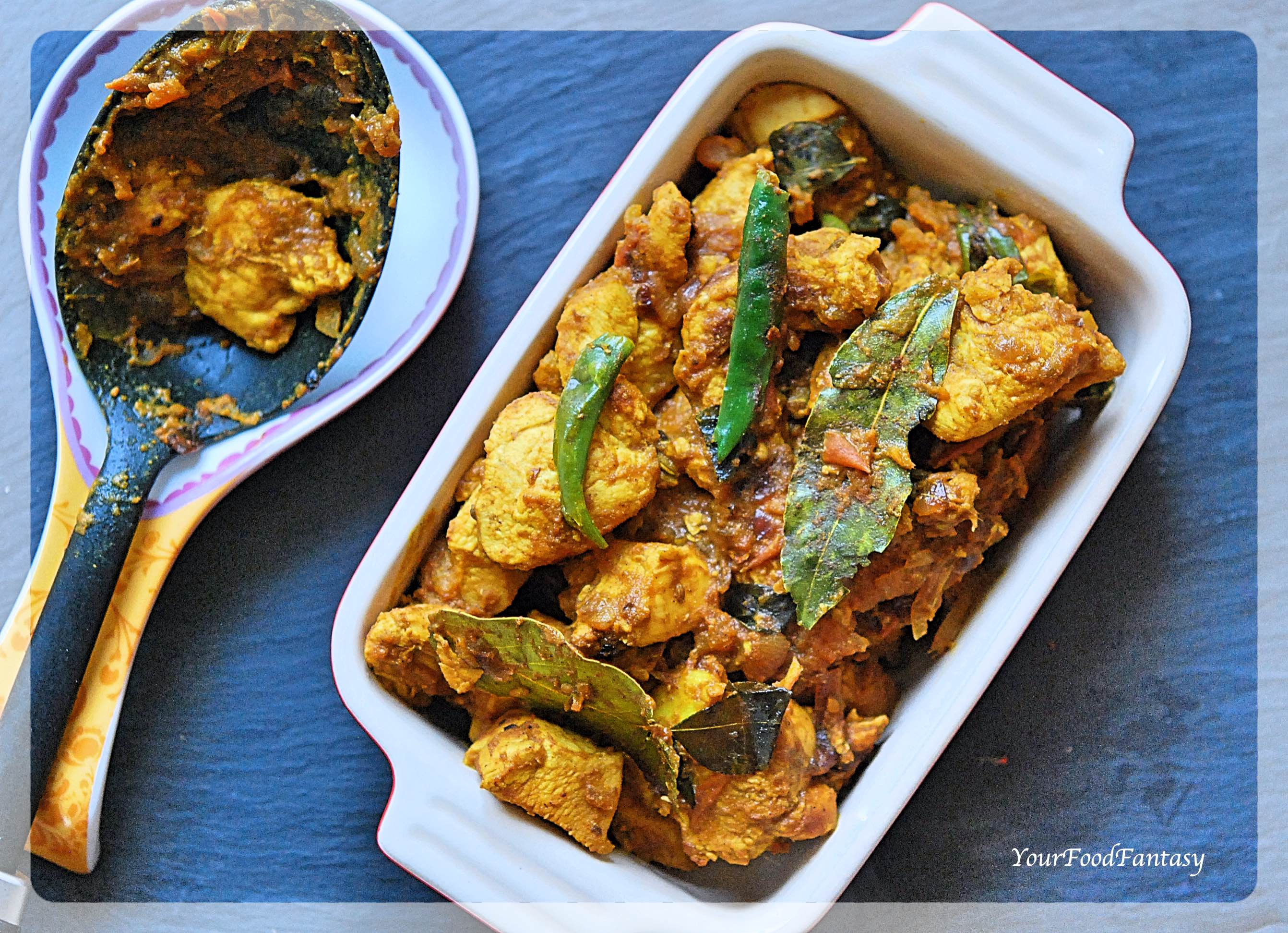 South Indian Style Dry Chicken Curry Recipe - Your Food ...