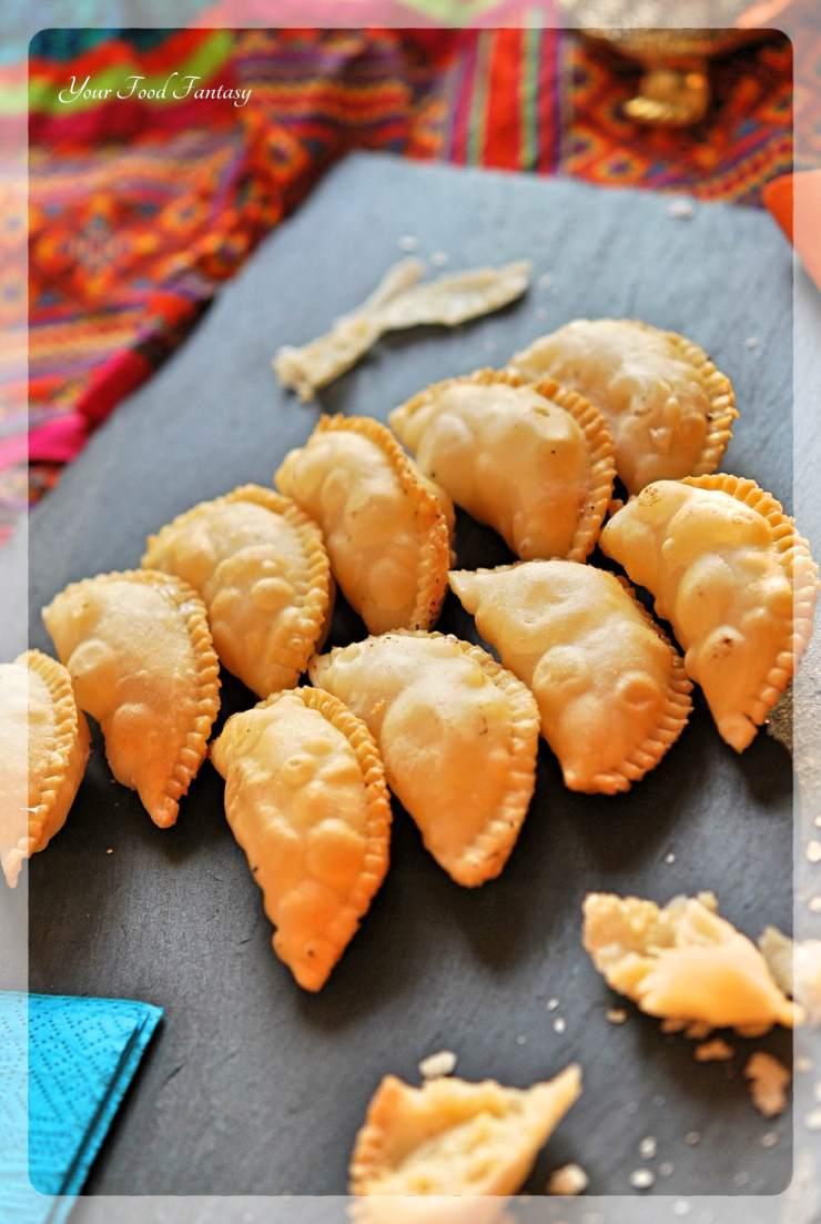 Gujiya Recipe - Mava Gujiya | Your Food Fantasy