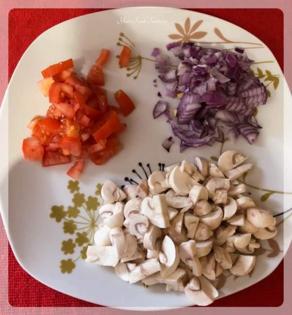 Ingredients for Mushroom Bruschetta