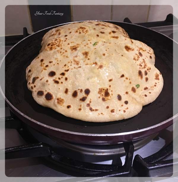 Puffed Paneer Paratha | Your Food Fantasy