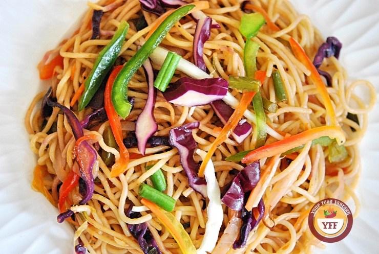 Veg Hakka Noodles Recipe | YourFoodFantasy.com
