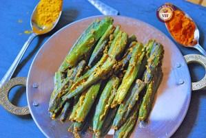 Bharwa Bhindi   Stuffed Okra Recipe   YourFoodFantasy.com