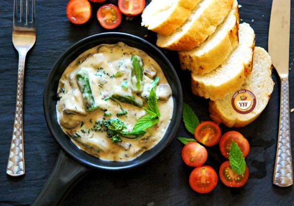 Cheesy Mushroom Broccoli | YourFoodFantasy.com
