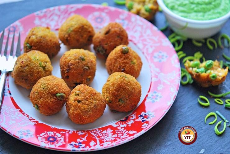 Vegan Leek and Pea Aranchini | Leek Recipes -YourFoodFantasy.com
