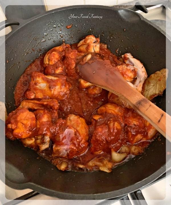 Ghee Roast Chicken Curry Prepartation