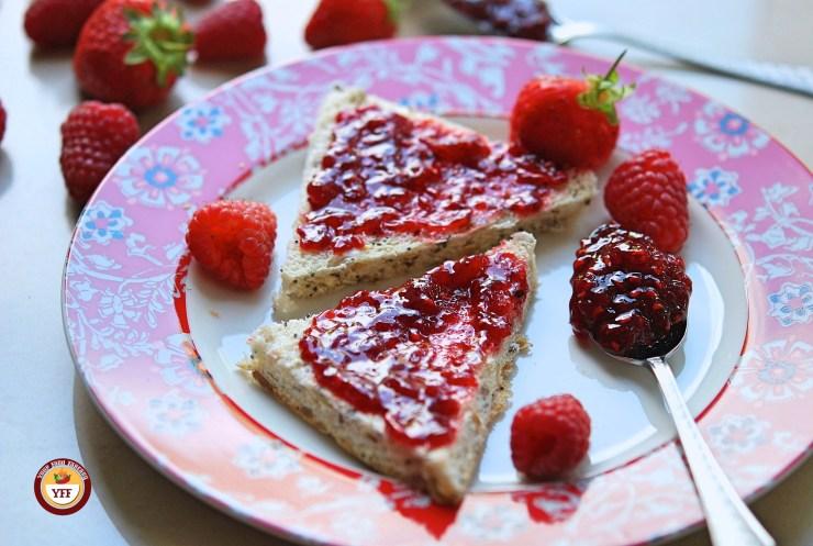 Homemade Strawberry Raspberry Jam Recipe by YourFoodFantasy.com