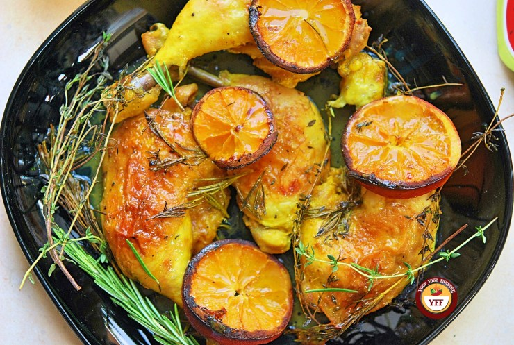 Oven baked Rosemary and Thyme Chicken legs   Easy Chicken Recipes   YourFoodFantasy.com