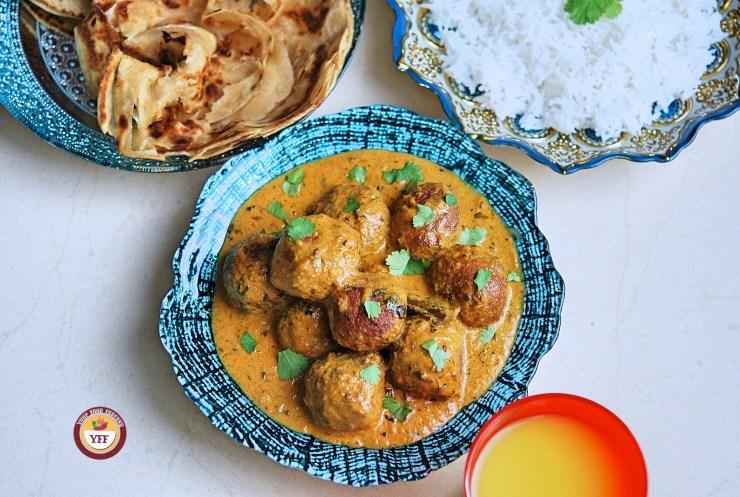 Cabbage Kofta Curry - YourFoodFantasy.com