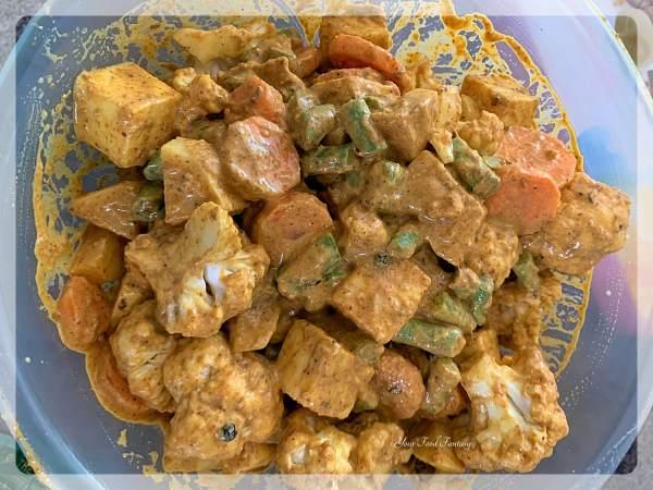 Marinating Vegetables for Biryani   Your Food Fantasy