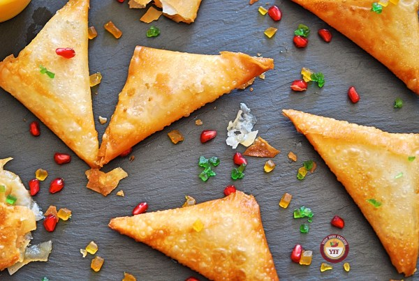 Apple Pie Samosa Recipe - Apple Based Recipe | Your Food Fantasy