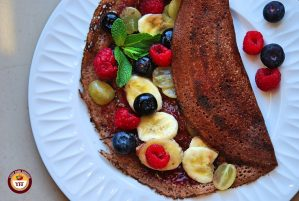 Fruit based Chocolate Dosa-Crepes Recipe | Your Food Fantasy