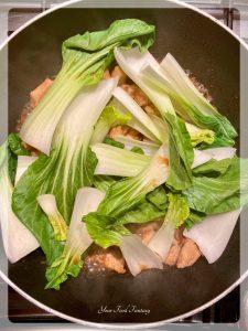 Adding Bok Choy | Chicken Teriyaki Recipe | Your Food Fantasy