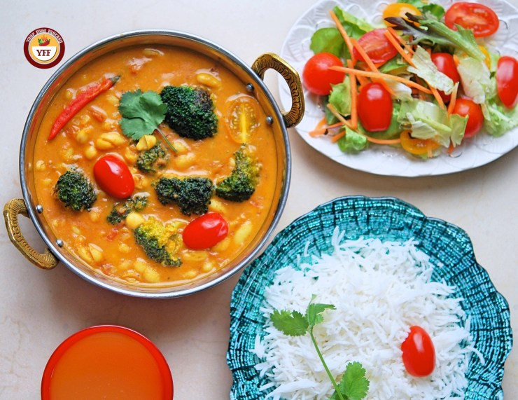 Protein Rich Cannellini Broccoli Vegan curry | Your Food Fantasy