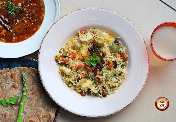 Shahi Navratan Pulav Recipe   Your Food Fantasy