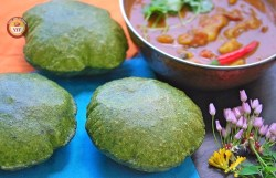 Spinach - Palak Poori Recipe | Your Food Fantasy